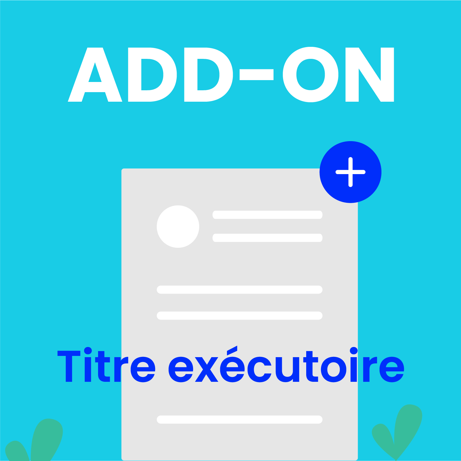 add-on titre executoire
