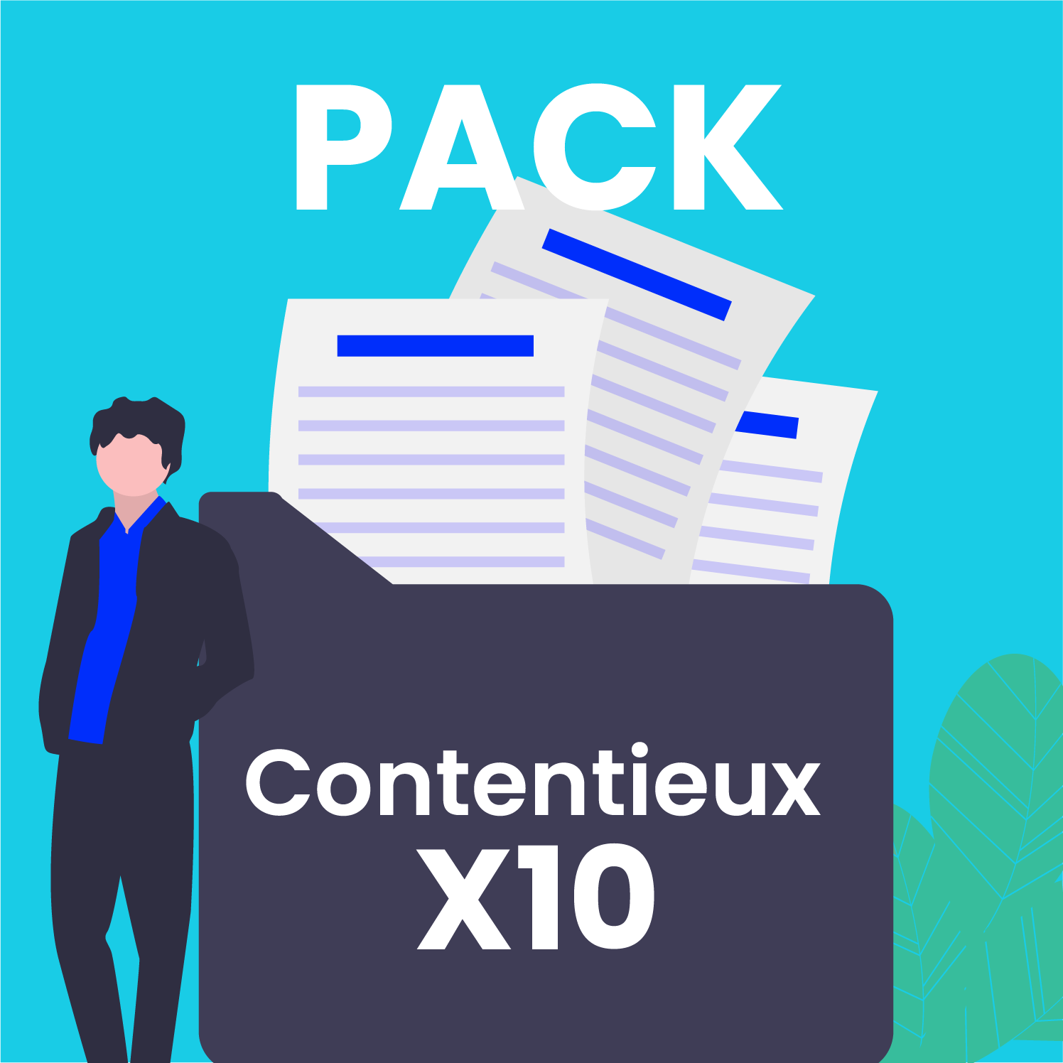 Pack contentieux x10